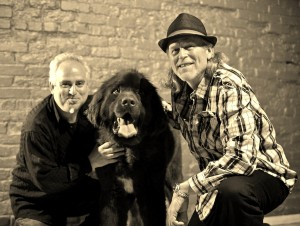 bruce & moose & scott b&w